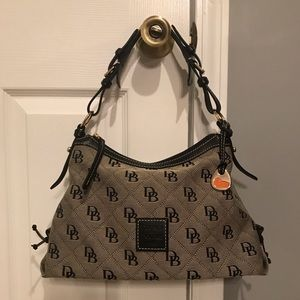 Dooney and Bourke Small Black Signature Hobo